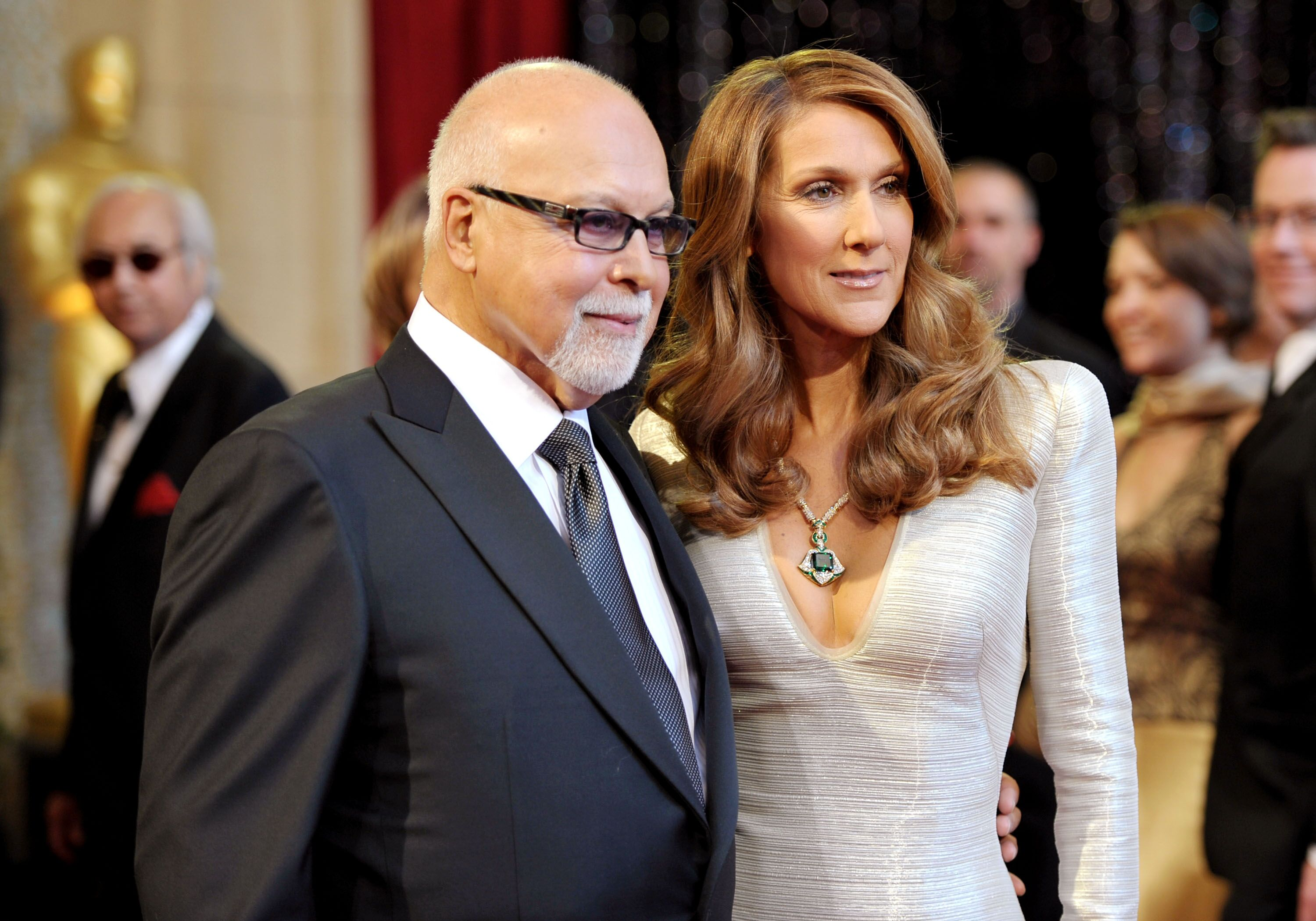 Rene Angelil and Celine Dion arrive at the 83rd Annual Academy Awards held at the Kodak Theatre on February 27, 2011 in Hollywood, California.   Source: Getty Images