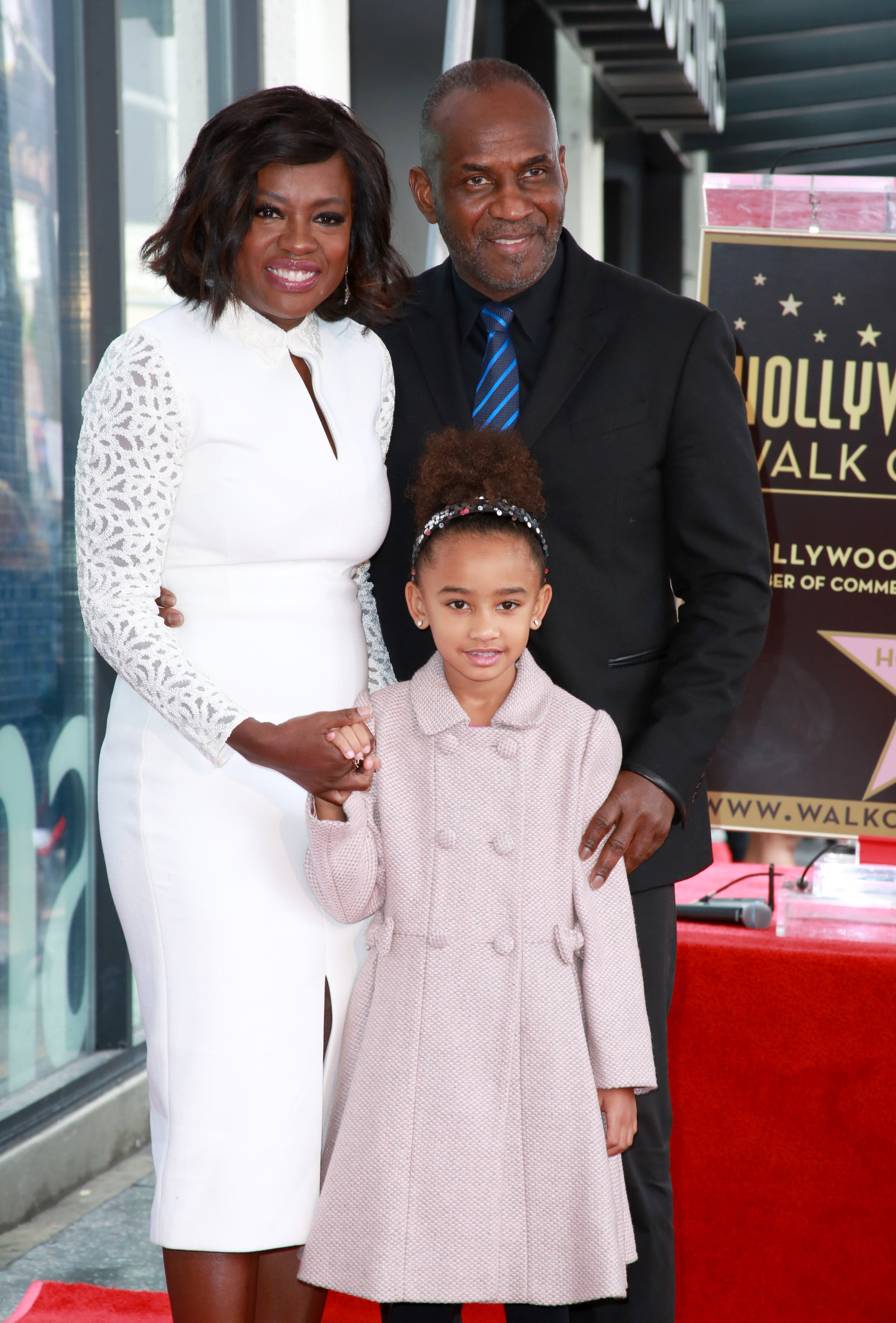 Actress Viola Davis, actor Julius Tennon and Genesis Tennon attend the Viola Davis Walk Of Fame Ceremony at Hollywood Walk Of Fame on January 5, 2017|Photo: Getty Images
