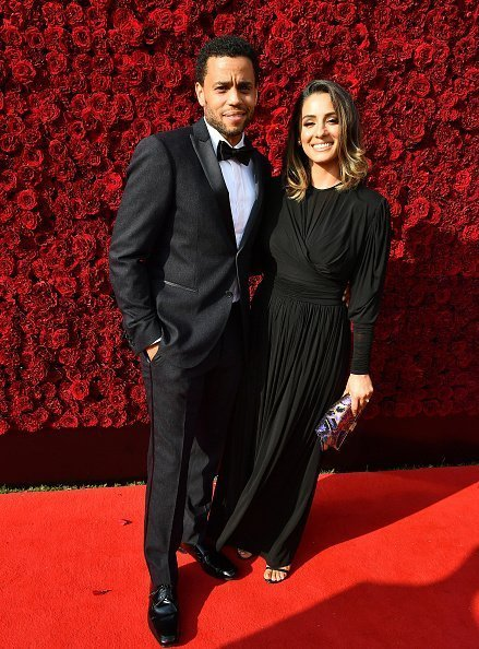 Michael Ealy and wife Khatira Rafiqzada at the grand opening of Tyler Perry Studios.| Photo: Getty Images