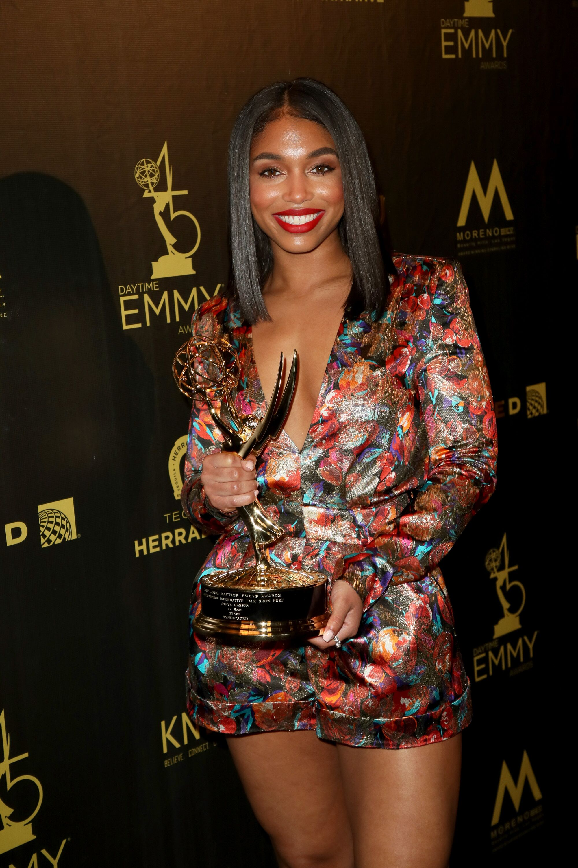 Steve Harvey's stepdaughter Lori at the Emmys/ Source: Getty Images