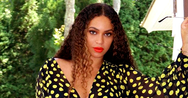 Beyoncé Flashes Her Décolletage in Plunging Mini Outfit in a Series of Sultry Photos