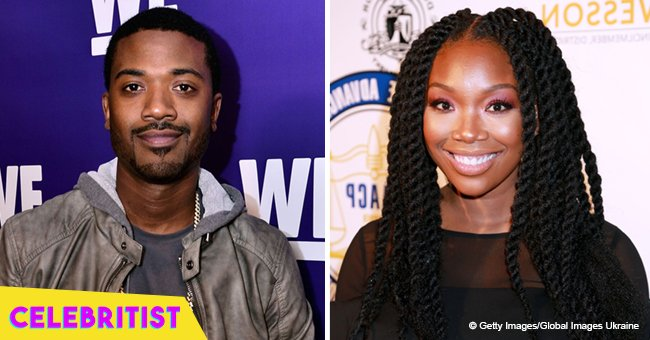 Brandy shares hug with younger brother Ray J after her weight gain
