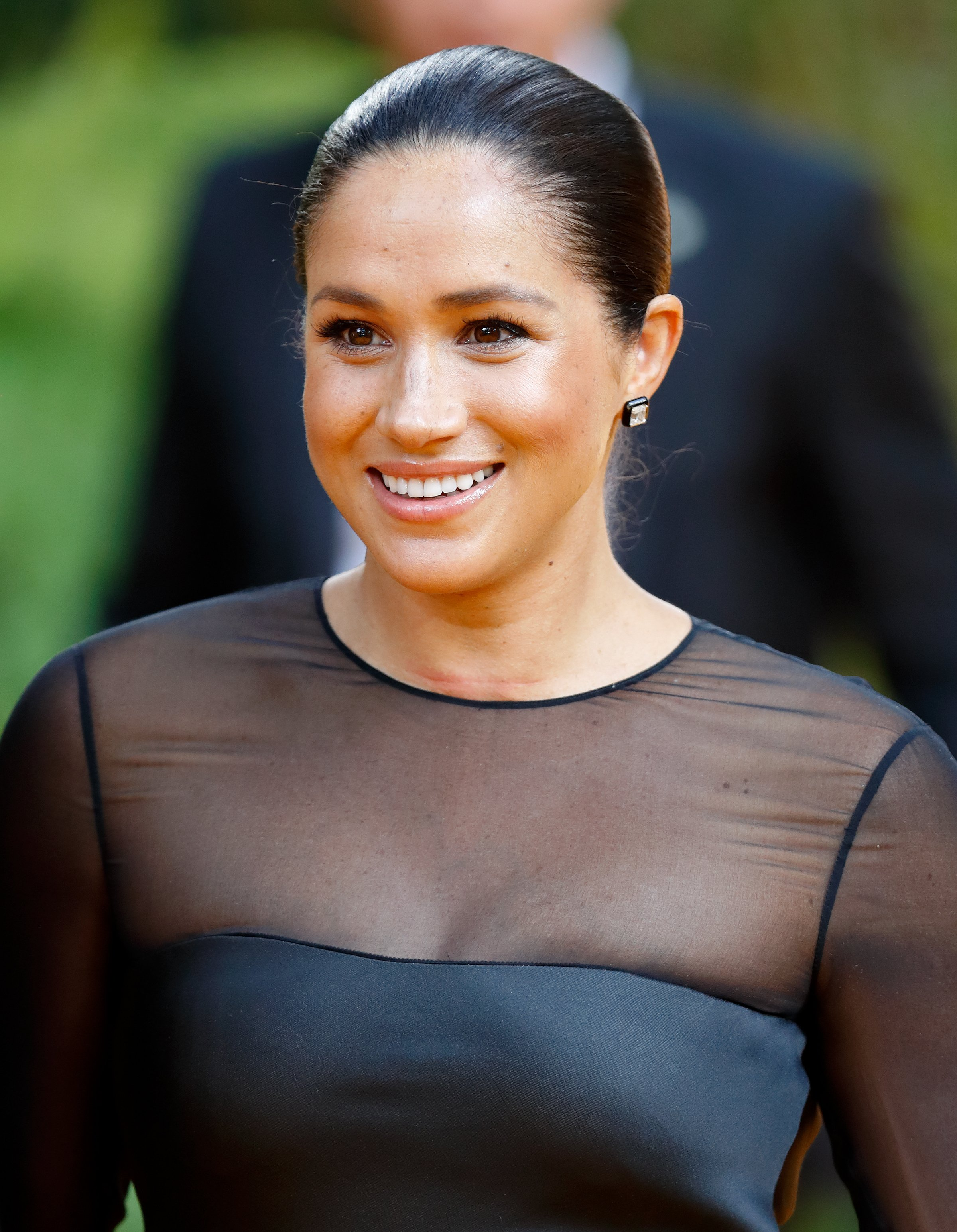 "Meghan Markle attends the premiere of the ""Lion King"" in Britain on July 11, 2019 