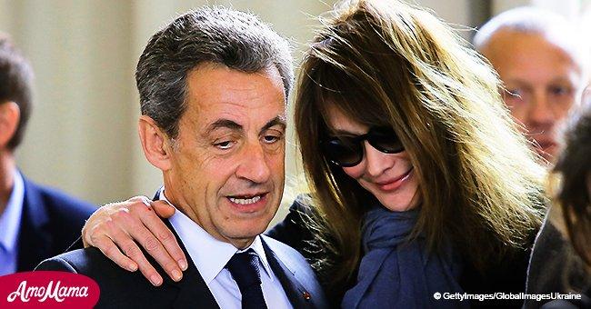 """Carla Bruni souhaite publiquement des vœux d'anniversaire à Nicolas Sarkozy en l'appelant """"l'amour de sa vie"""""""