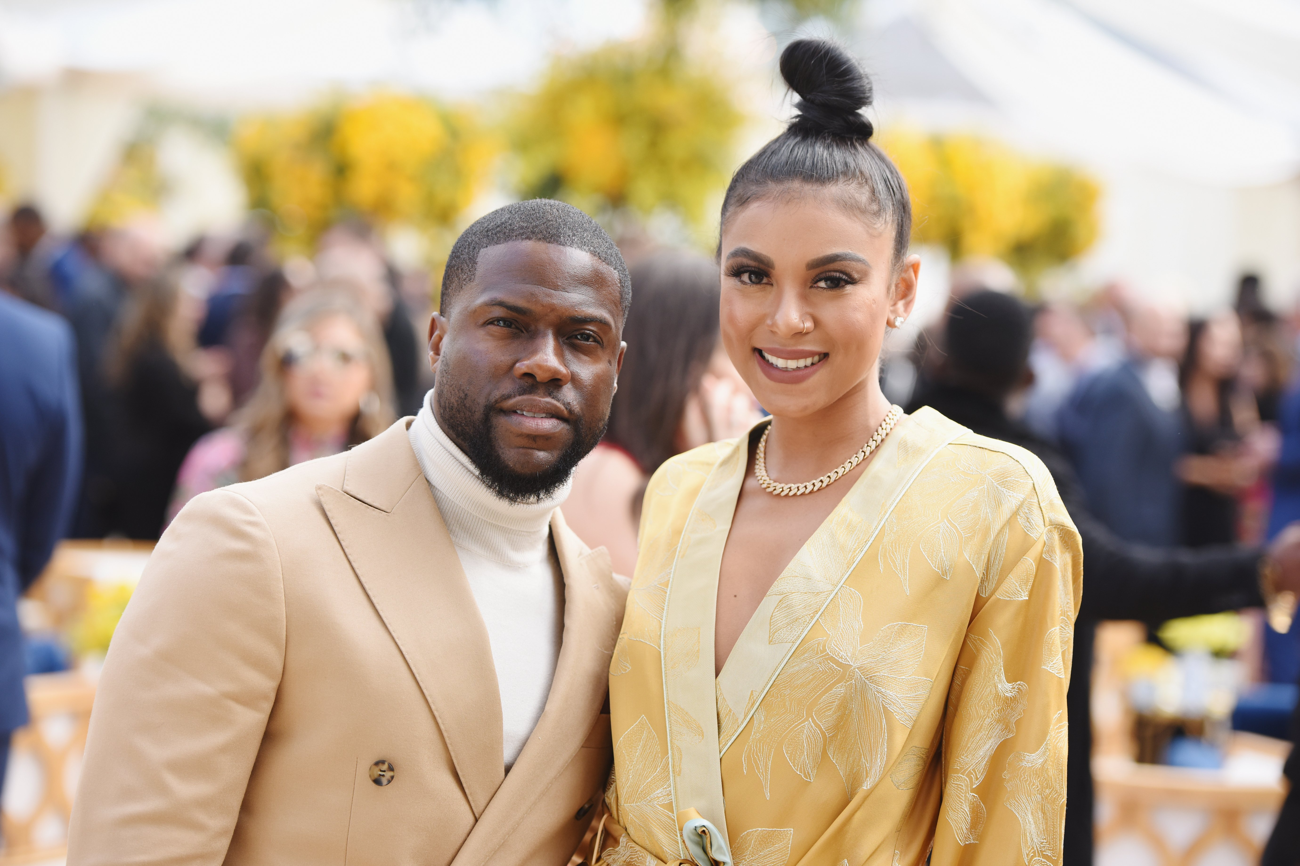 """Kevin Hart and Eniko Parrish at the 2019 Roc Nation's """"THE BRUNCH"""" on February 9, 2019 in Los Angeles, California. 