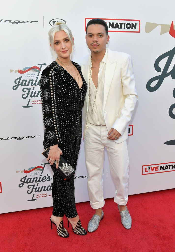 Ashlee Simpson and Evan Ross during Steven Tyler and Live Nation presents Inaugural Janie's Fund Gala & Grammy Viewing Party at Red Studios on January 28, 2018 in Los Angeles, California. | Source: Getty Images