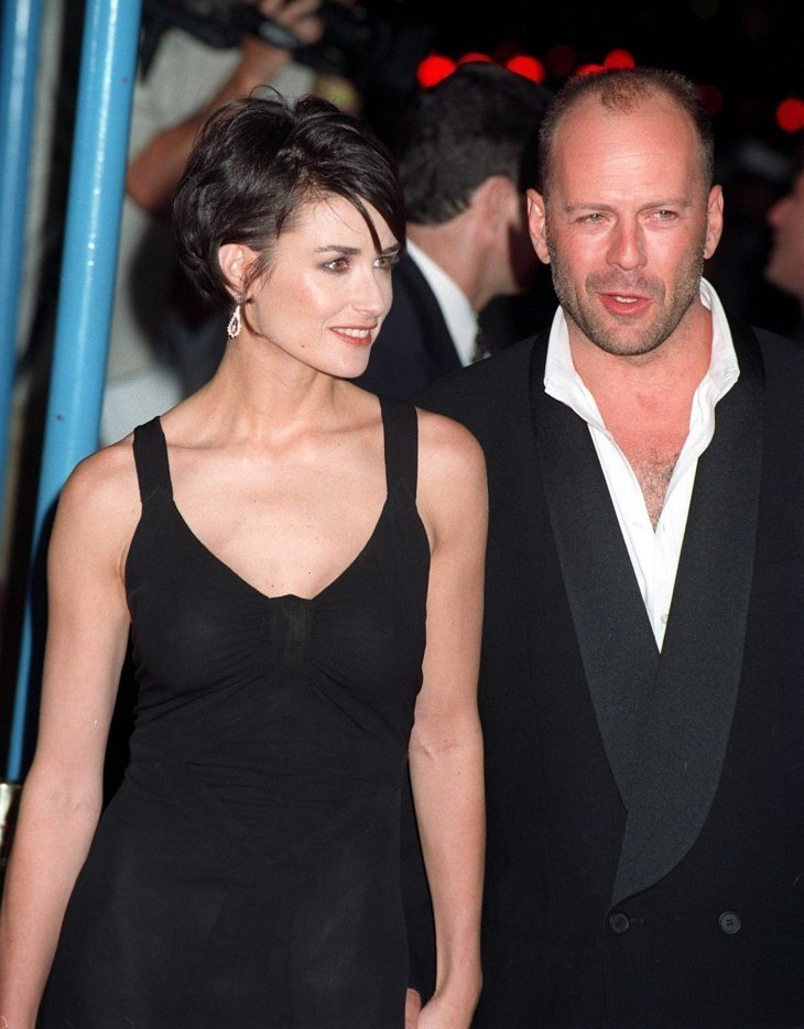 "DEMI MOORE & Bruce Willis at the premiere of her movie ""G.I. Jane."" 