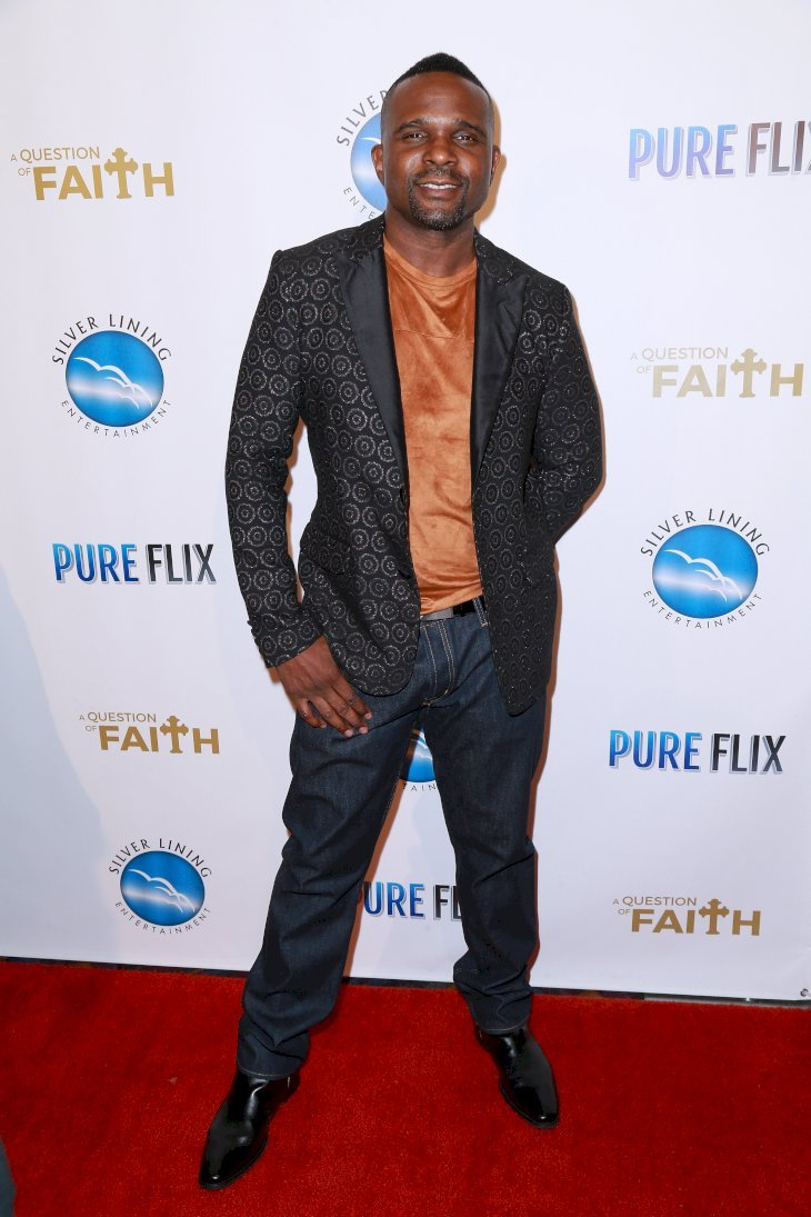 """Actor Darius McCrary attends the premiere of Pure Flix Entertainment's """"A Question Of Faith"""" at Regal 14 at LA Live Downtown 