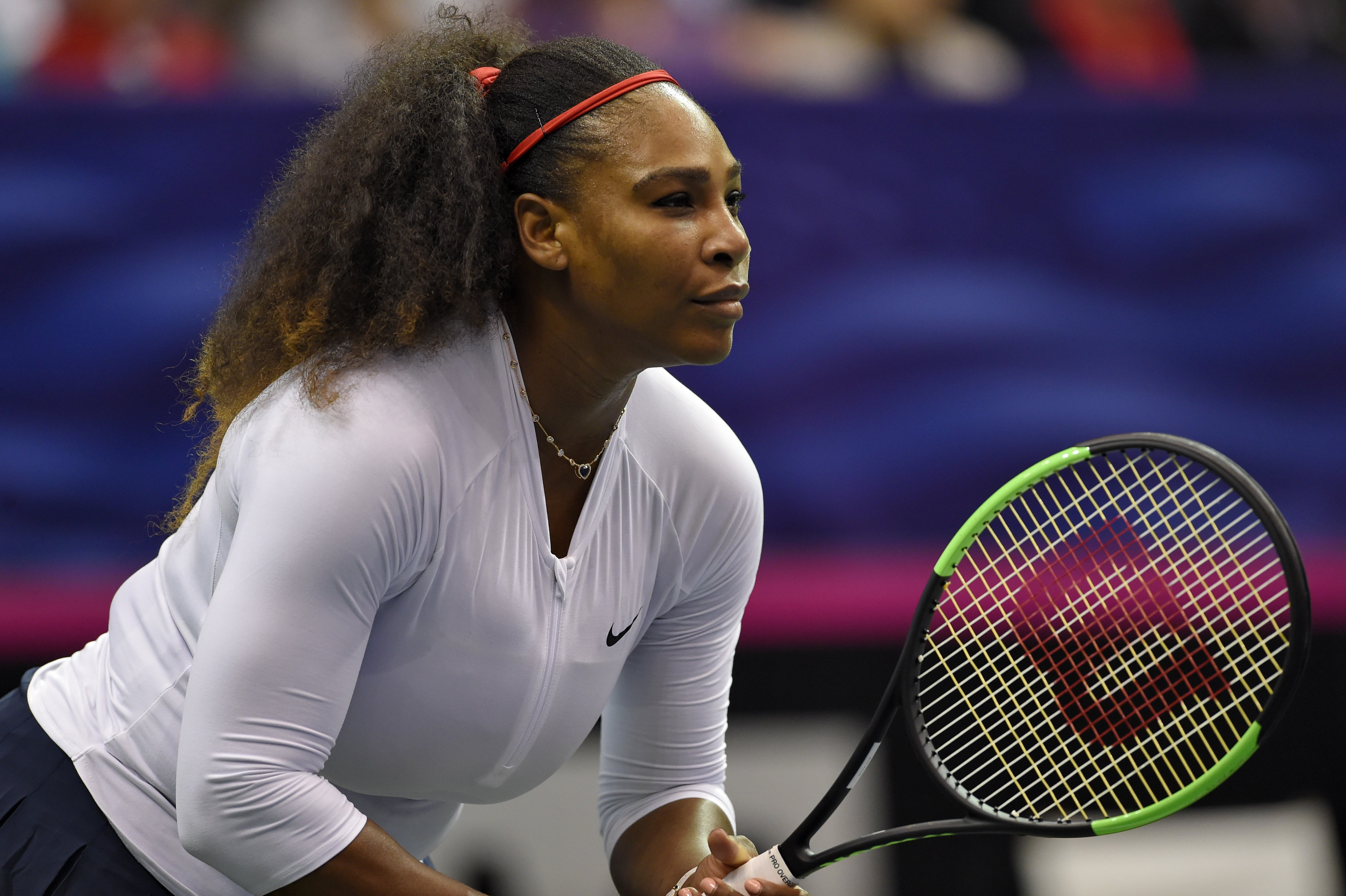 Serena Williams at the 2018 Fed Cup at US Cellular Center on February 11, 2018 in Asheville, North Carolina.  Photo: Getty Images