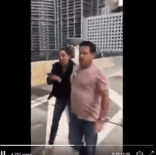 The woman and her boyfriend as they confront the boys| Screenshot: https://twitter.com/BillyCorben/status/1087849017831235586