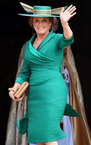 Sarah Ferguson attend the wedding of daughter Princess Eugenie on October 12, 2018, in Windsor, England. | Photo: Getty Images