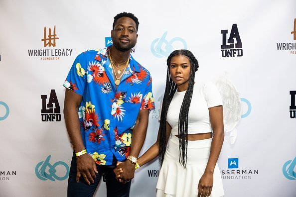 Dwyane Wade and Gabrielle Union at the Wright Legacy Foundation skate night on August 03, 2019 | Photo: Getty Images