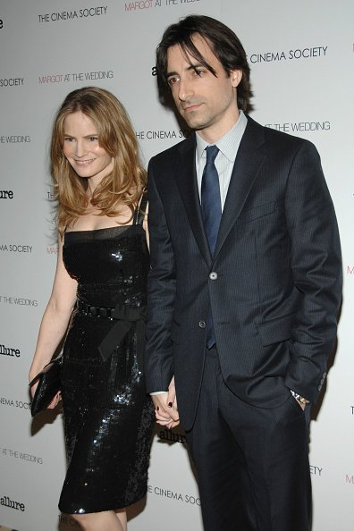 Jennifer Jason Leigh and Noah Baumbach at Tribeca Grand Hotel on November 8, 2007 in New York City. | Photo: Getty Images