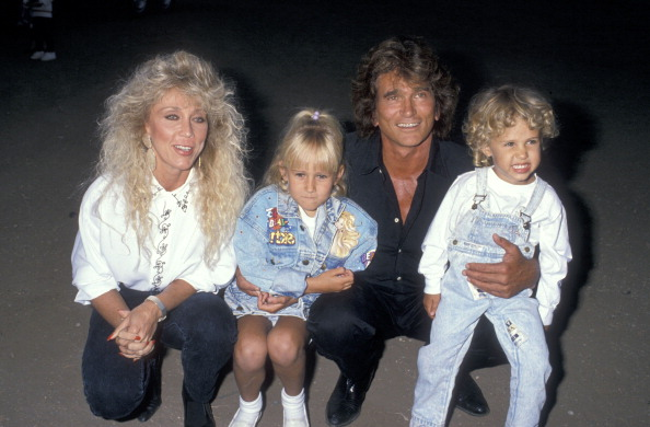 Michael Landon, wife Cindy Landon, daughter Jennifer Landon and son Sean Landon attend the Third Annual Moonlight Roundup Extravaganza to Benefit Free Arts for Abused Children on July 29, 1989 | Photo: Getty Images