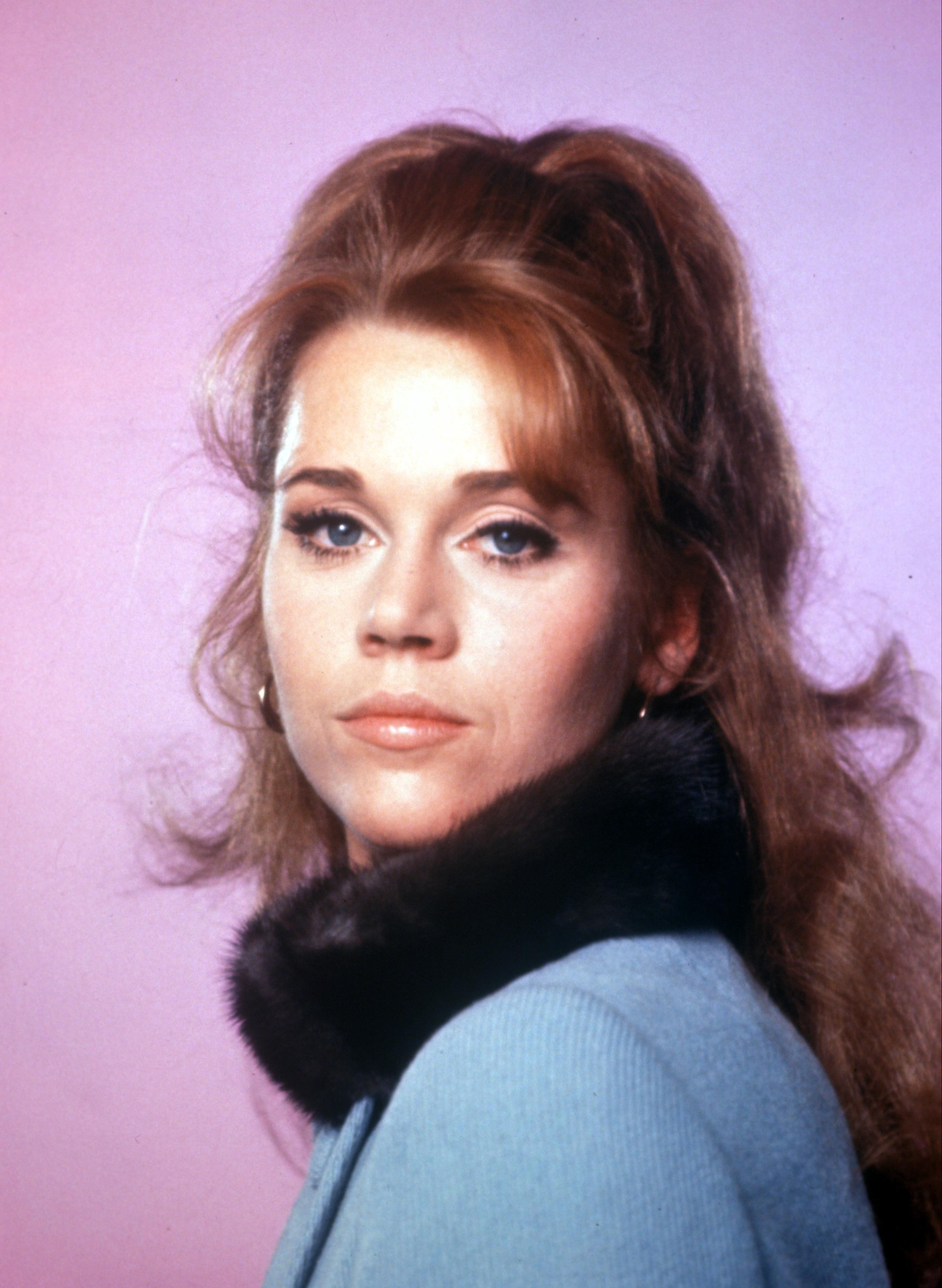 Jane Fonda as a young woman with reddish brown hair in the 60s.   Photo: Getty Images