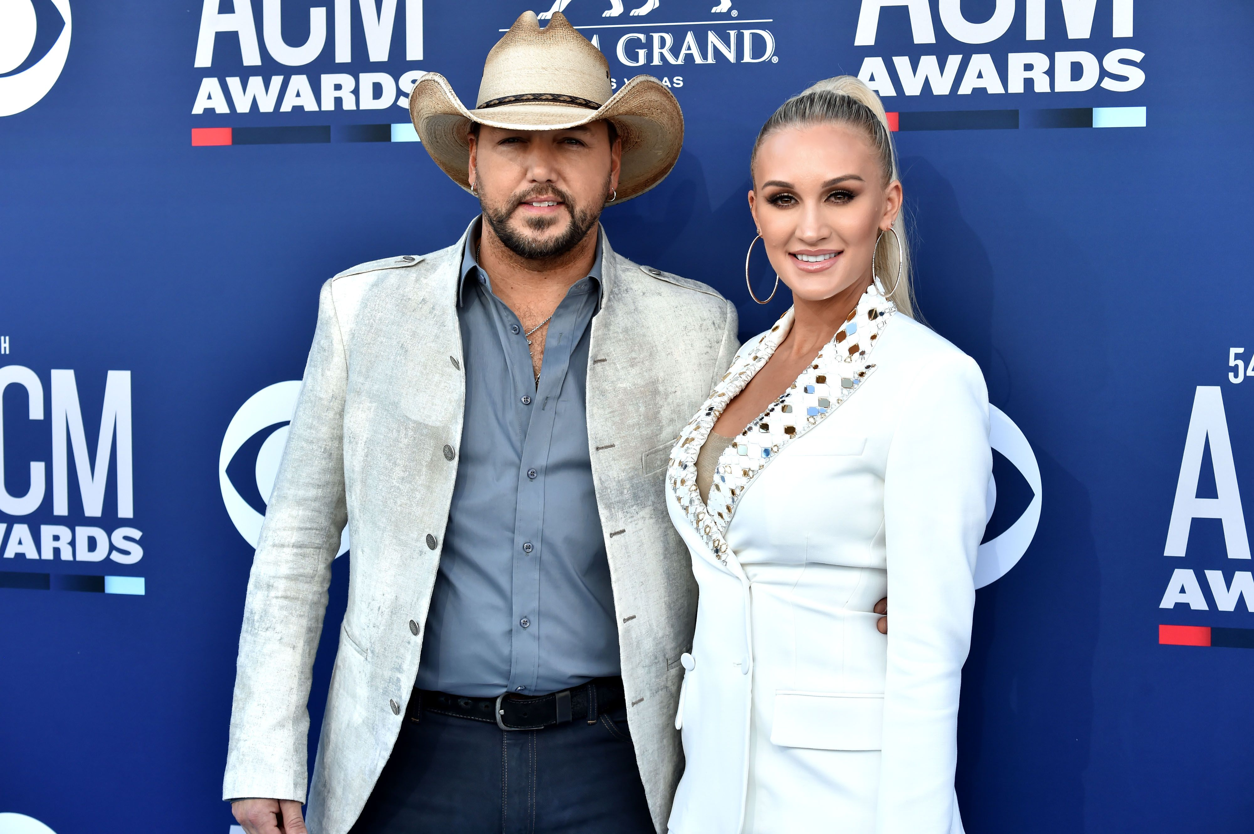 Jason Aldean and Brittany Aldean at the 54th Academy Of Country Music Awards at MGM Grand Hotel & Casino on April 07, 2019 in Las Vegas, Nevada | Photo: Getty Images