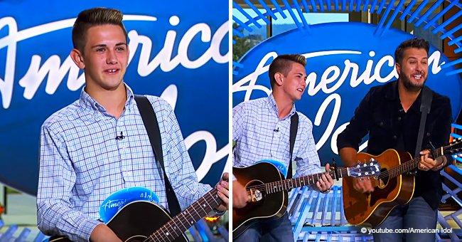 Luke Bryan Breaks into a Tear-Jerking Duet with an 'American Idol' Contestant He Met Years Ago