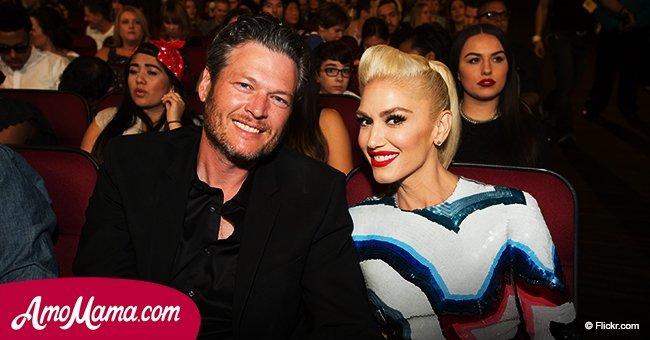 Gwen Stefani shares an adorable photo with her boyfriend Blake Shelton
