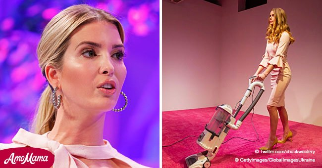 Now Everyone Can 'Toss Crumbs' at Ivanka Trump's Look-Alike at a Washington Art Exhibition