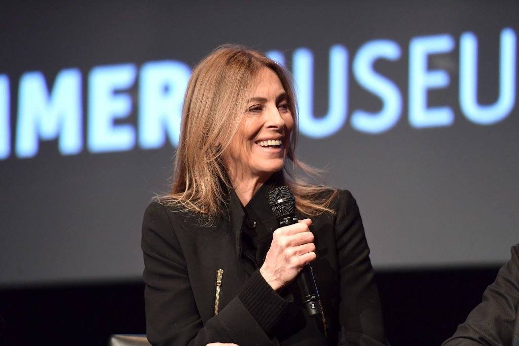 """Director Kathryn Bigelow speaks onstage during the Hammer Museum presents The Contenders 2017 """"Detroit"""" at Hammer Museum on December 18, 2017 