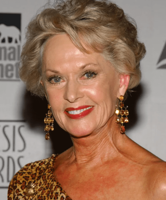 Tippi Hedren during The 18th Annual Genesis Awards and 50th Anniversary of the Humane Society of the United States - Pressroom at Beverly Hilton in Beverly Hills, California, United States.   Source: Getty Images