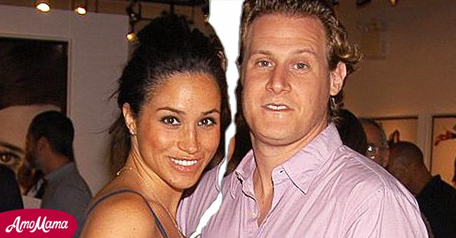 A picture of Meghan Markle and her ex-husband Trevor Engelson | Photo: Getty  Images