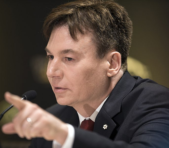 Mike Myers speaks about his family's military heritage during the 2017 Invictus Games opening press conference.   Source: Getty Images
