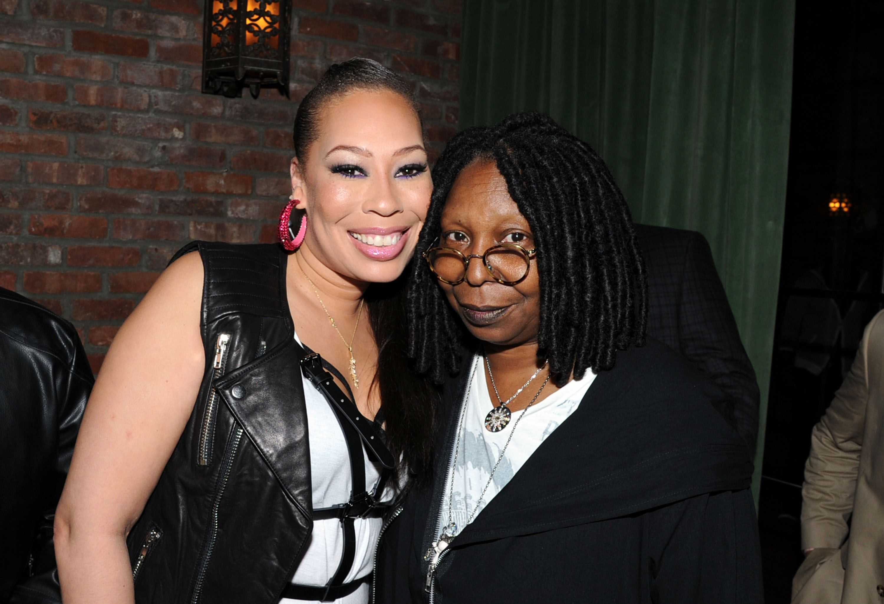"""Alex Martin and Whoopi Goldberg during the former's """"40 and Fly"""" birthday celebration at The Bowery Hotel on May 9, 2014 in New York City. 