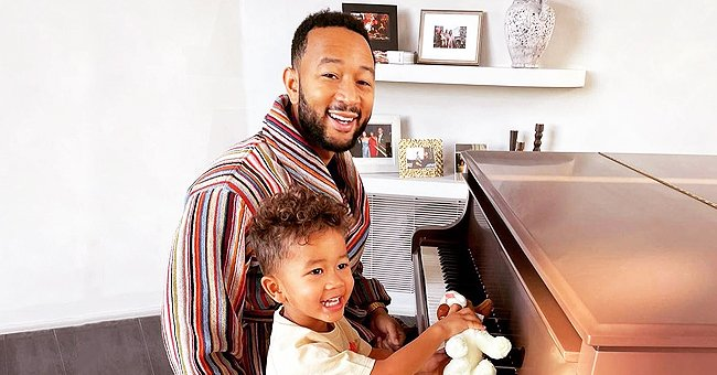 John Legend's Son Miles Looks like His Copy Showing Precious Smile in a Photo Posing Together