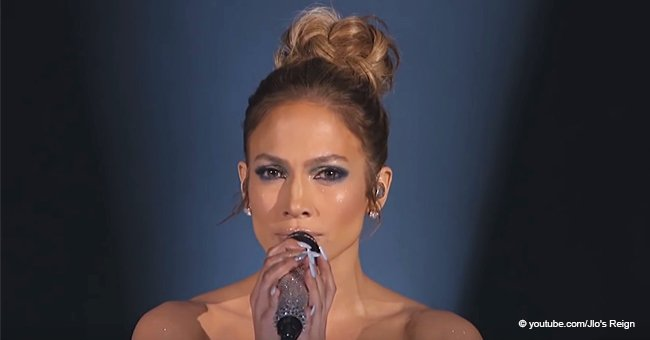 J.Lo Once Stole the Show in 40-ft Circular Skirt That Turned Her into Human Projection Screen