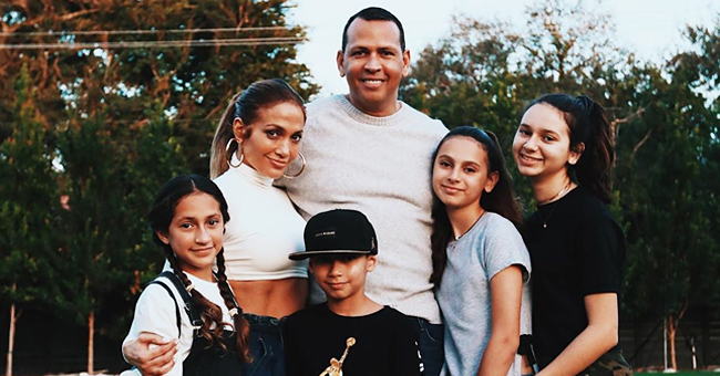 Jennifer Lopez Greets Fans on July 4th with a Photo of Her and Alex Rodriquez's Blended Family