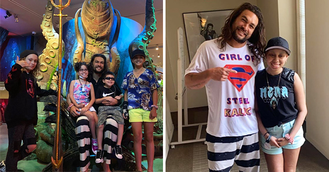 Jason Momoa Makes His First Appearance for Make-A-Wish Foundation on a Tour with Young Fans (Photos)