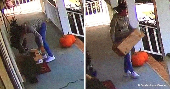 Video of delivery person caught stealing Amazon package she 'delivered' went viral last year