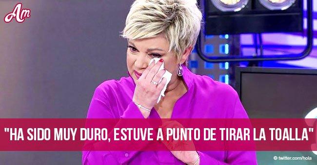 Terelu Campos hace emotivo regreso a la televisión tras cirugía de cáncer de mama