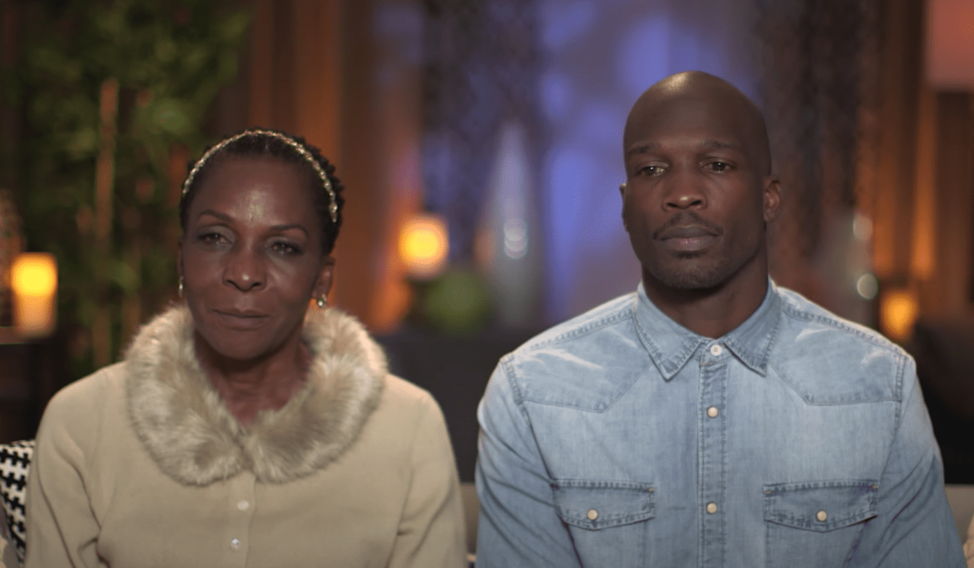 "Chad ""Ochocinco"" Johnson and his mother Paula during their introduction video for ""Marriage Boot Camp"" that aired on April 14, 2017. 