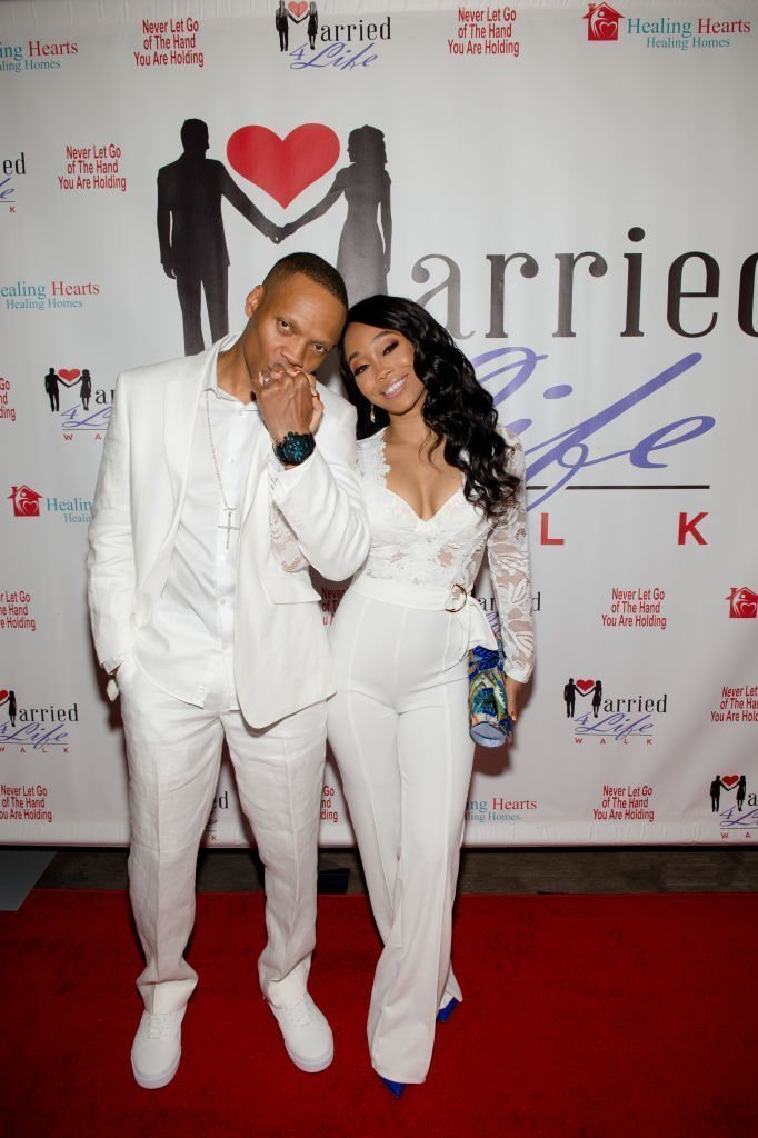 """Ronnie and Shamari DeVoe at the 3rd Annual """"Married 4 Life"""" Couples Mixer on April 27, 2019 in Georgia 