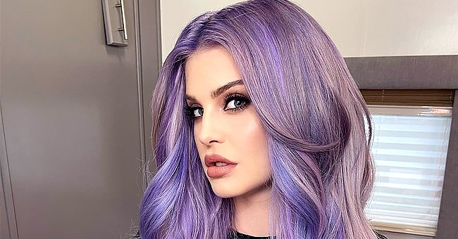 Kelly Osbourne Switches Things up as She Debuts Long Purple Hair in a Stunning Photo