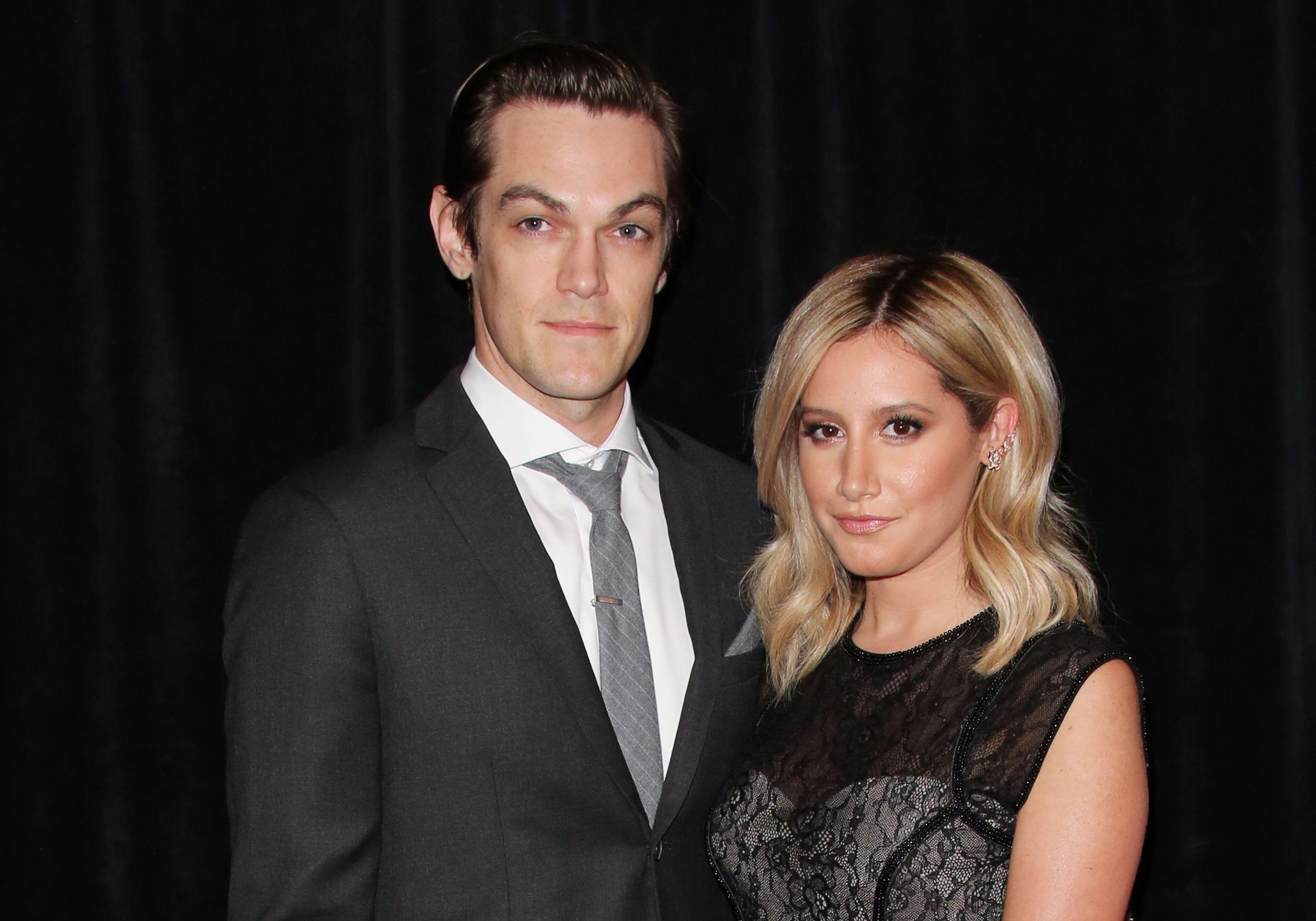 Christopher French and Ashley Tisdale at the Daytime Creative Arts Emmy Awards Gala on June 20, 2014, in Los Angeles, California | Photo: Paul Archuleta/FilmMagic/Getty Images