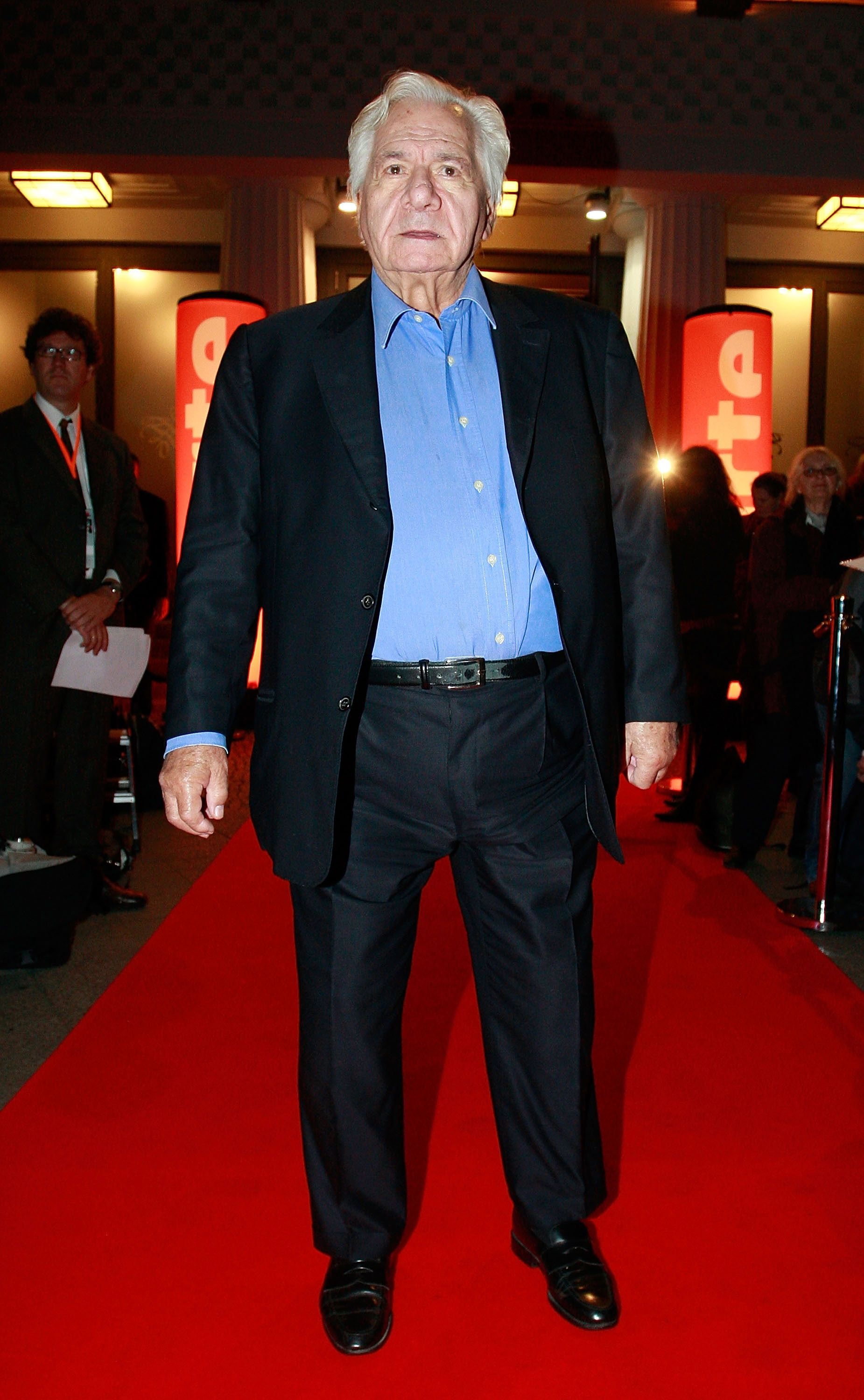 "L'acteur Michel Galabru assiste à l'émission finale de télévision ""King of Drama"" le 20 septembre 2008 à Berlin. 