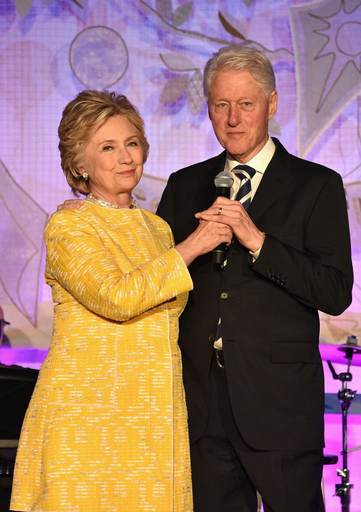 Hillary Clinton and Bill Clinton speak onstage during the SeriousFun Children's Network Gala on May 23, 2017, in New York City. | Source: Getty Images.