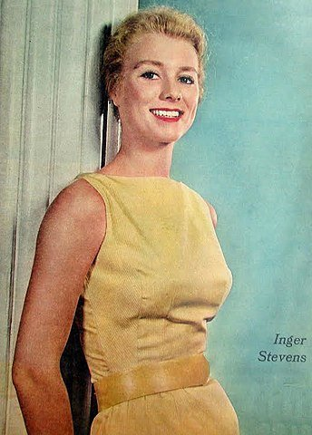Inger Stevens from the front cover of the New York Sunday News magazine in 1957. | Source: Wikimedia Commons.