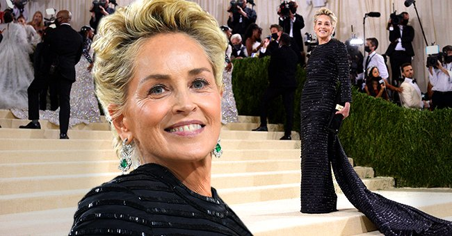 Sharon Stone atthe Met Gala Celebrating In America: A Lexicon Of Fashion at the Metropolitan Museum of Art on September 13, 2021, in New York City   Photos: Jeff Kravitz/FilmMagic andJohn Shearer/WireImage/Getty Images