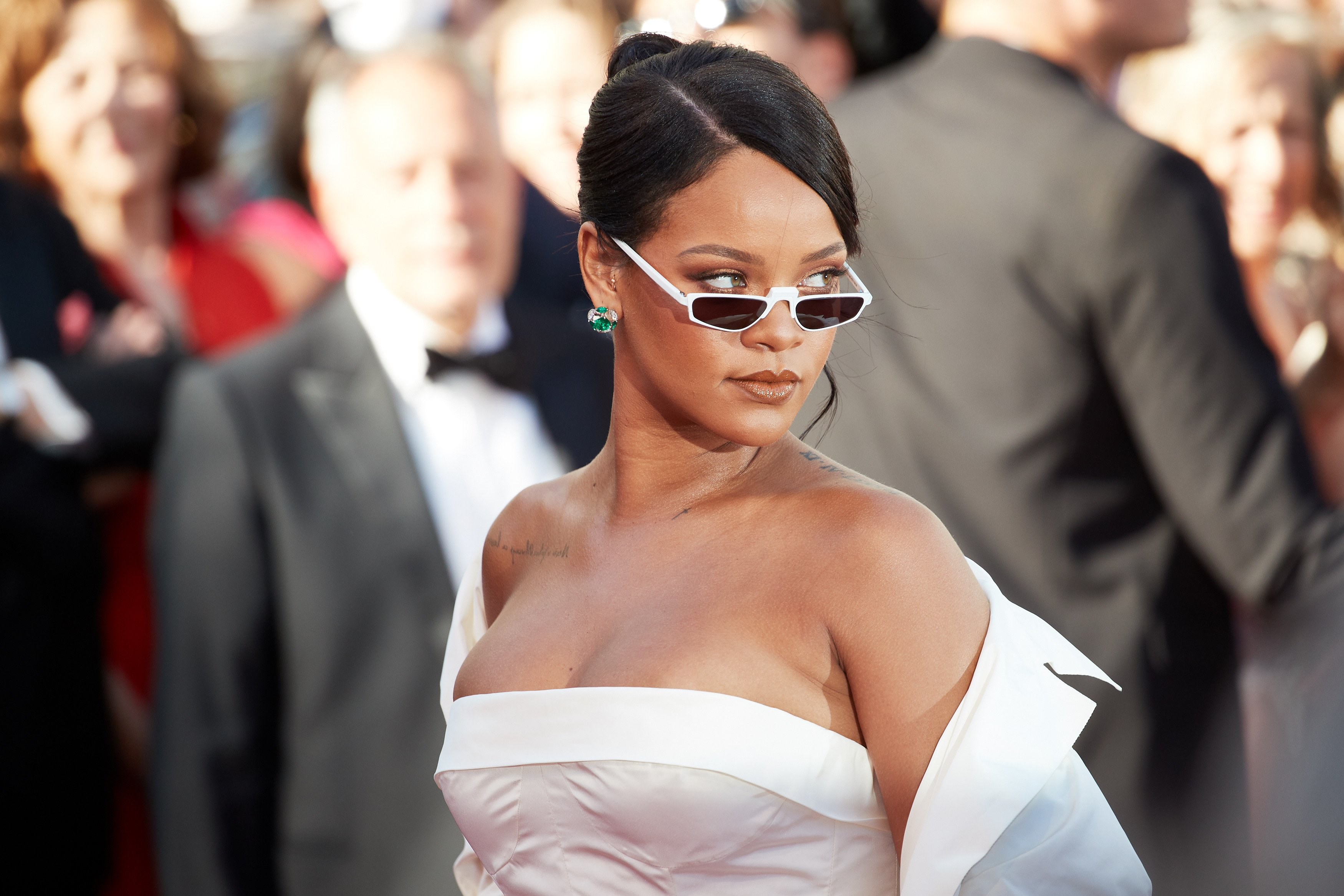 Rihanna during the 70th annual Cannes Film Festival on May 19, 2017 in France | Photo: Getty Images