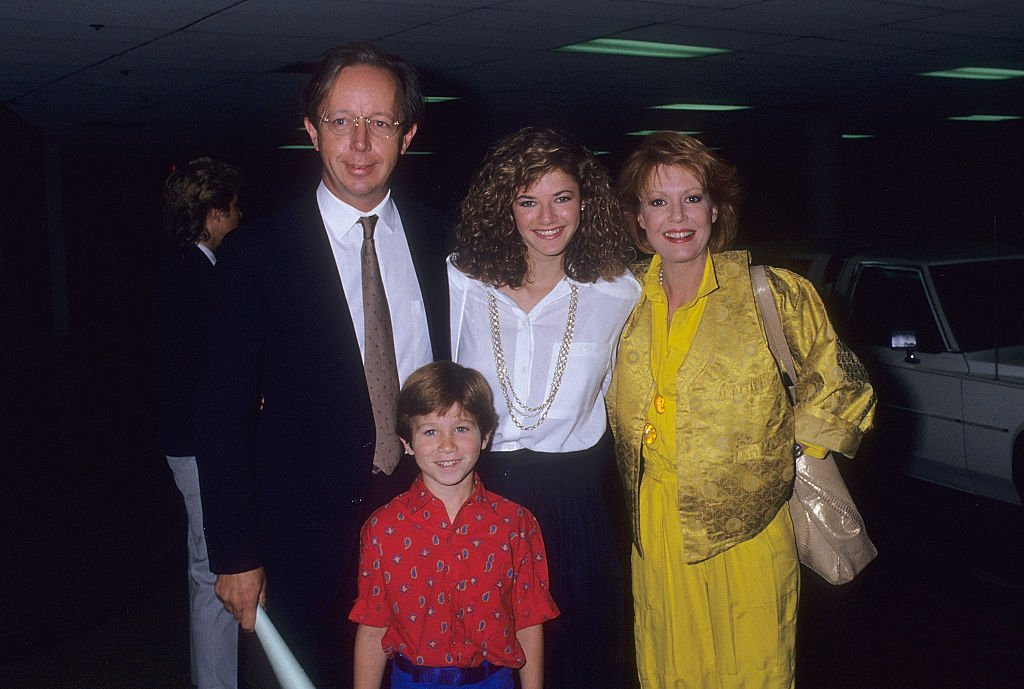 Actor Max Wright, actress Andrea Elson, and actress Anne Schedeen attend the NBC Television Affiliates Party on June 2, 1987. | Photo: Getty Images