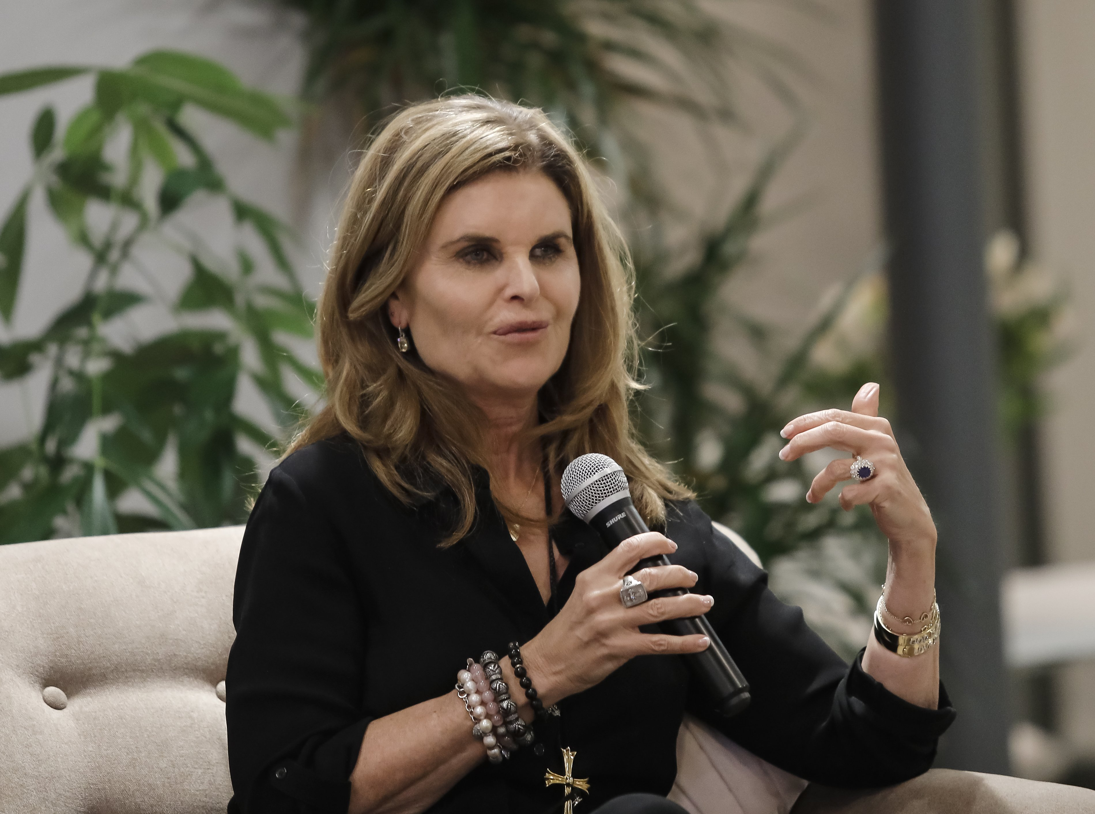 Maria Shriver speaks at the Riverter in Los Angeles, California on January 15, 2019 | Photo: Getty Images