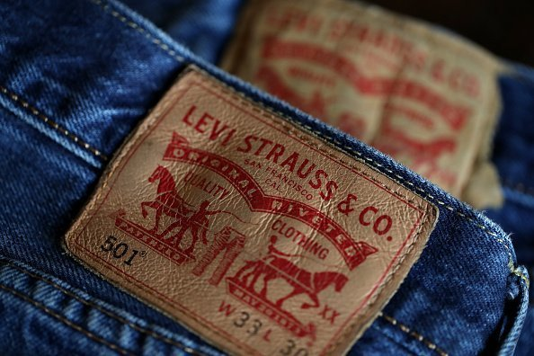 The Levi's logo is displayed on Levi's 501 jeans in San Francisco, California | Photo: Getty Images