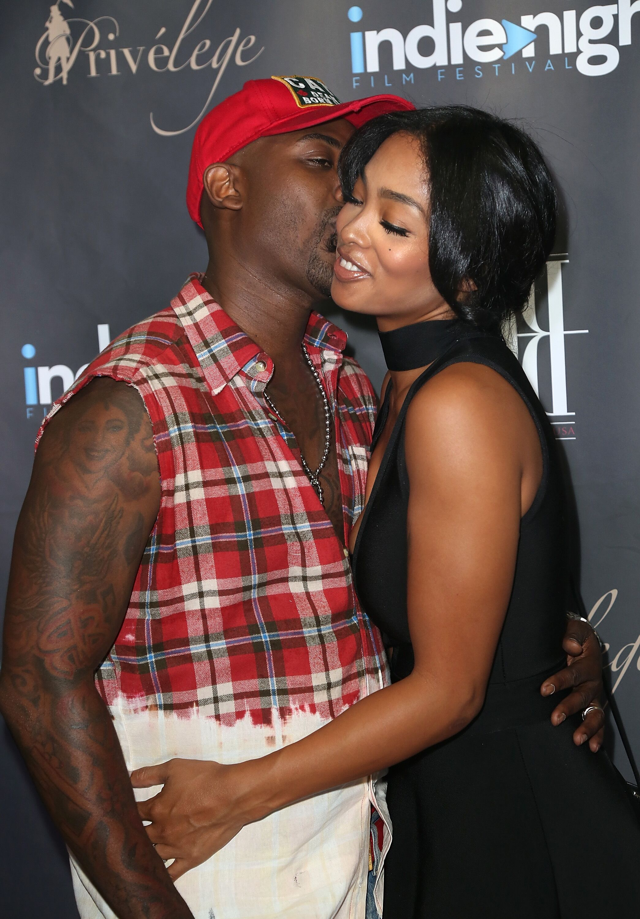 Reality stars Ray J and Princess Love at the Indie Night Film Festival/ Source: Getty Images