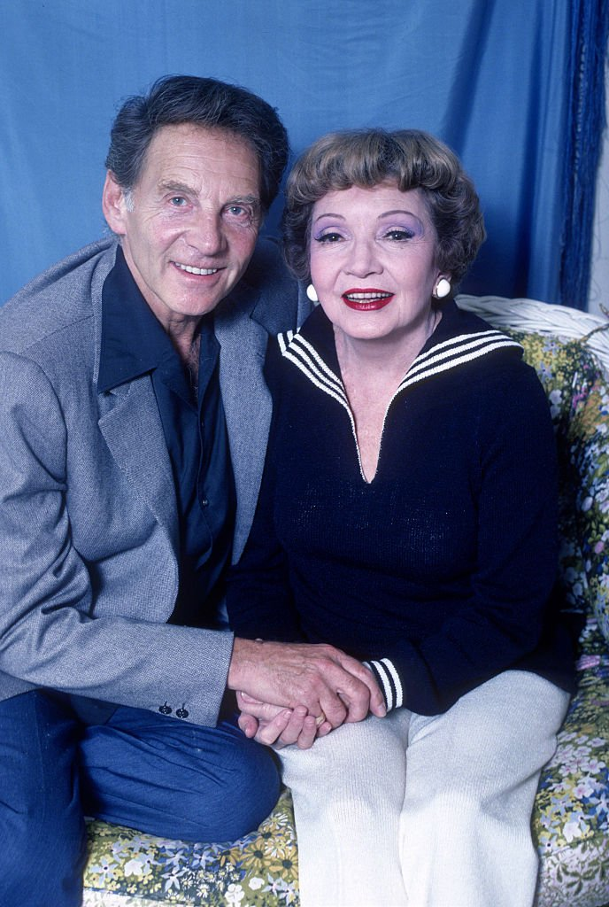 """Jean-Pierre Aumont and Claudette Colbert on """"A Talent For Murder"""" circa 1981 