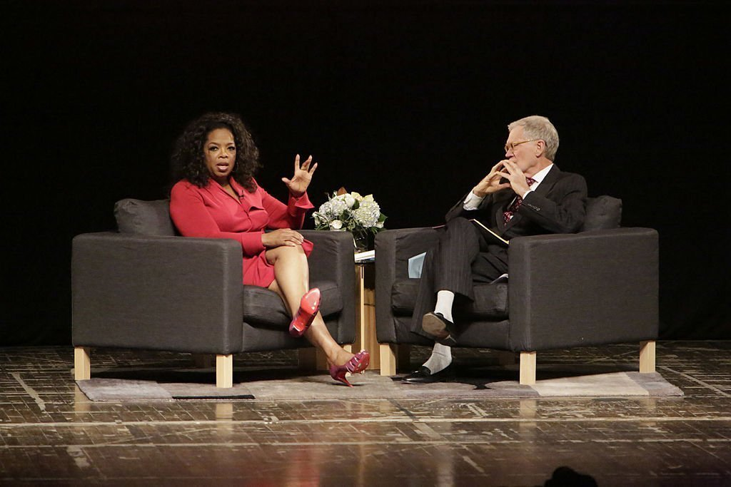 Oprah Winfrey and David Letterrman at Ball State University | Photo: Getty Images