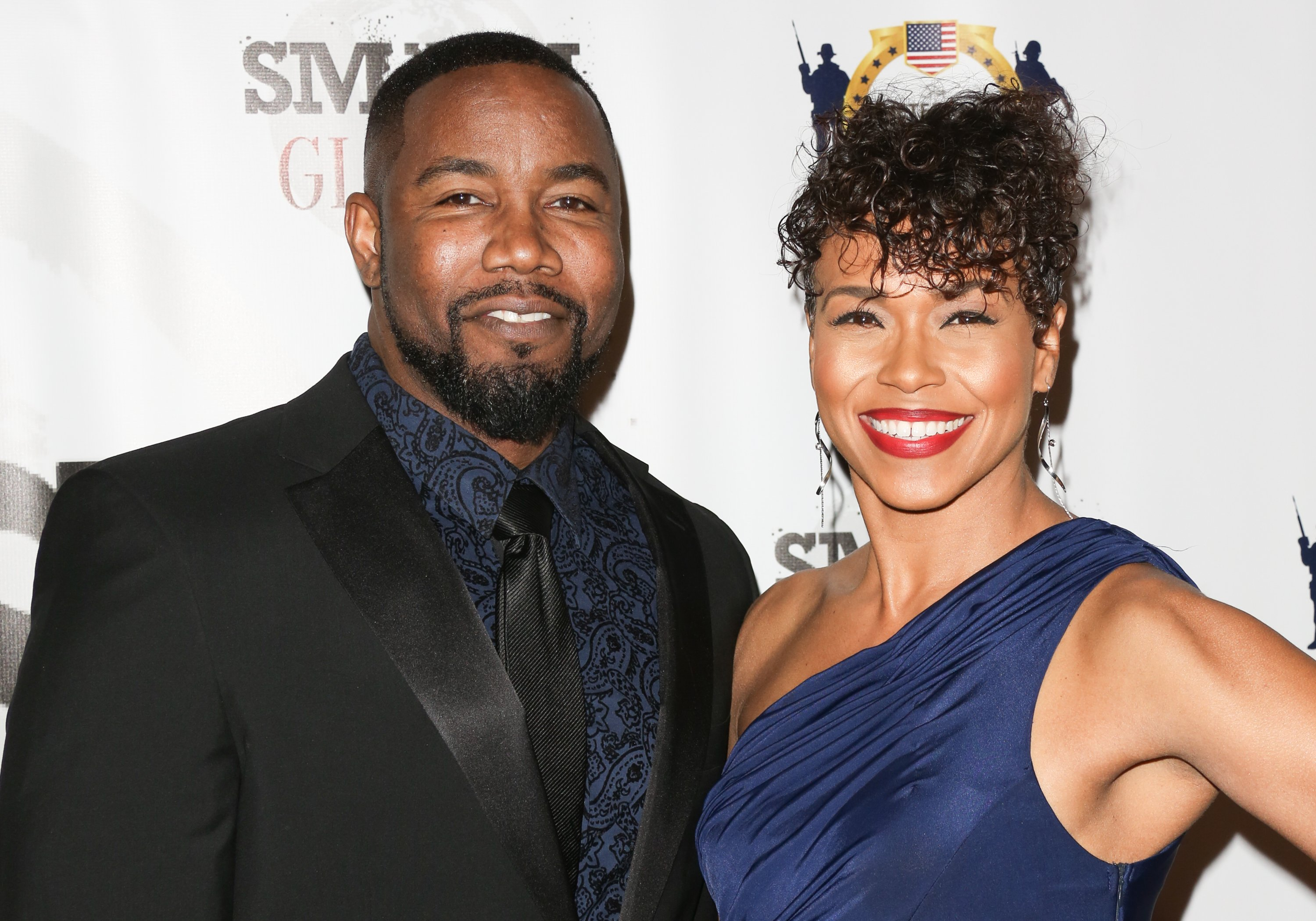 Michael Jai White and Gillian Iliana Waters on February 23, 2017 in Los Angeles, California | Photo: Getty Images/Global Images Ukraine